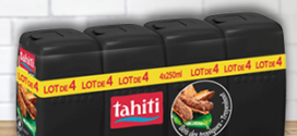 Promo Auchan : 4 gels douche Tahiti à 1,60€ (-70% fidélité)