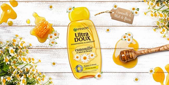 Testez le shampooing Camomille Ultra Doux de Garnier