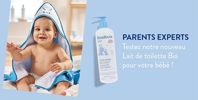 testez gratuitement le lait de toilette Rivadouce Bébé