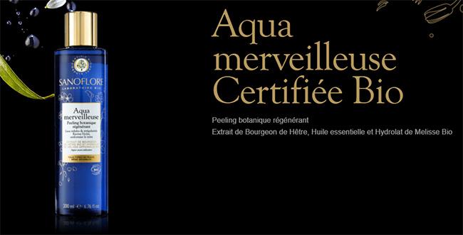 Testez gratuitement le soin peeling régénérant Aqua Merveilleuse Sanoflore