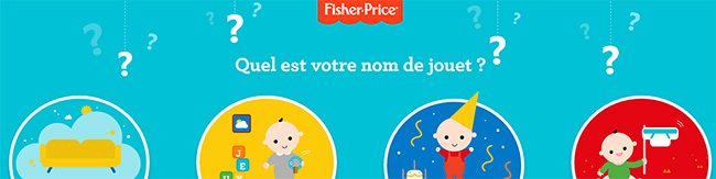 Tentez ed remporter un coupon d'achat Fisher Price