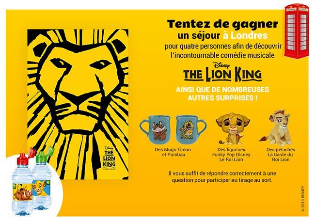 Tentez de gagner l'un des 102 cadeaux du jeu Volvic et Le Roi Lion