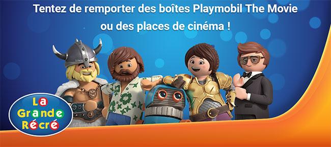 Des cadeaux Playmobil le film à gagner avec La Grande Récré