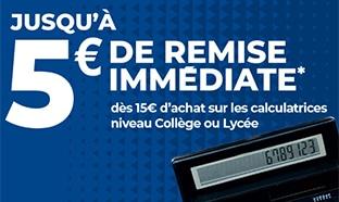 Bon plan Carrefour Market : 5€ de remise pour la reprise de votre calculatrice