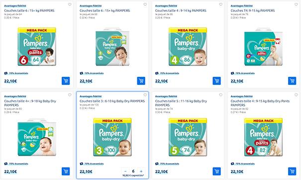 Carrefour Drive : 70% remboursé sur les couches Pampers