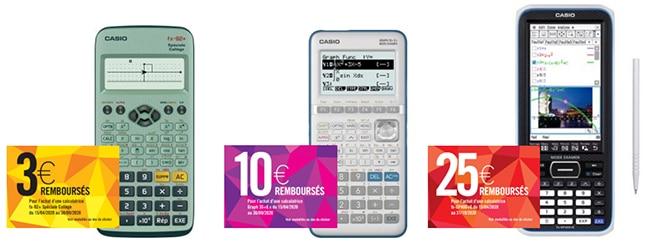 Jusqu'à 25€ remboursés pour l'achat d'une calculatrice Casio