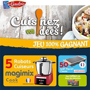 Jeu Cuisinez vos idées avec achat Le Gaulois : 100% gagnant
