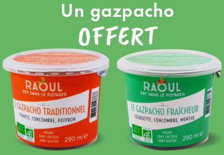Gazpacho traditionnel ou fraîcheur offert à Bio c' Bon