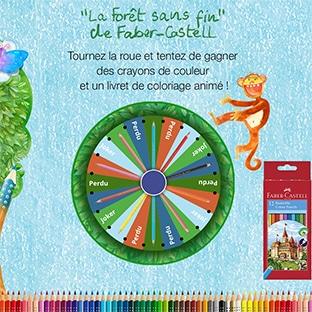 Jeu Faber-Castell : crayons et cahiers de coloriage à gagner