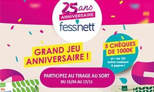 Jeu Fessnett anniversaire 25 ans