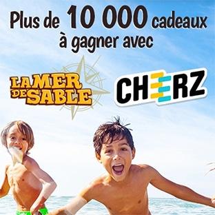 Jeu Bordas : 155 pass La Mer de Sable et 10'150 lots Cheerz