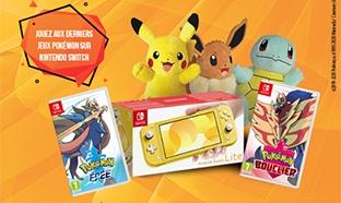Jeu Candy-up.fr : 3 Nintendo Switch Lite et 288 lots Pokémon