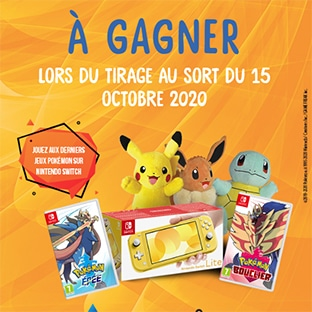 Jeu Candy-up.fr : 3 Nintendo Switch Lite et 288 lots Pokémon
