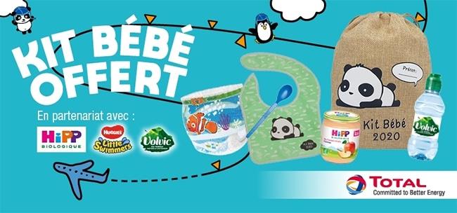 Produits bébés gratuits : kits offerts chez Total