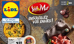 Catalogue Lidl « Sol & Mar » du mardi 6 au mercredi 12 mai 2020