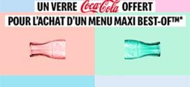 McDo : Verres Coca-Cola 2020 offerts pour 1 menu acheté