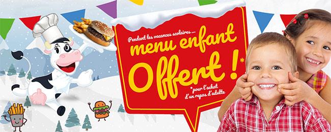 Bénéficier d'une formule enfant gratuite pour un menu adulte acheté à La Boucherie