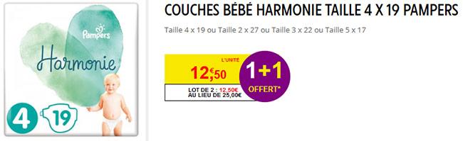 Promotion Intermarché : Couches Harmonie moins chères