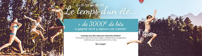 Tentez de gagner un séjour en camping Les Castels
