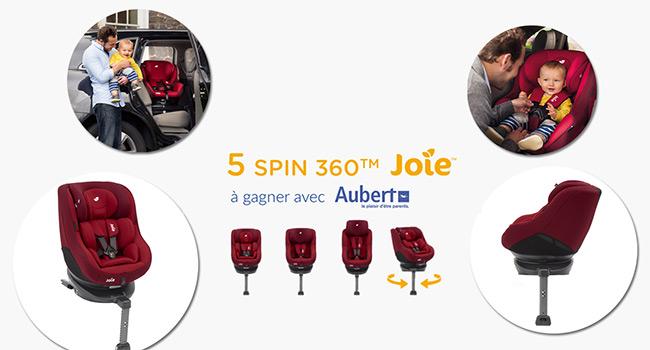 Tentez de remporter un siège auto Joie avec le jeu Aubert