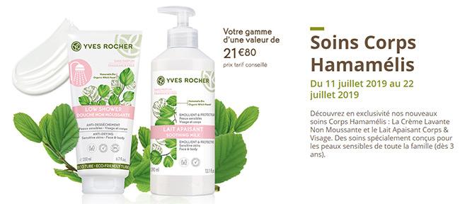 Testez gratuitement les soins corps Hamamélis d'Yves Rocher