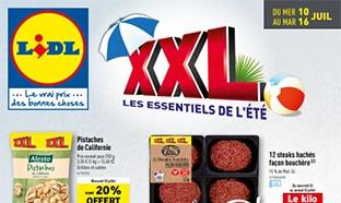 Catalogue «XXL Les essentiels de l'été» du 10 au 16 juillet 2019