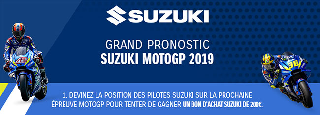 Cadeau pronostic Suzuki