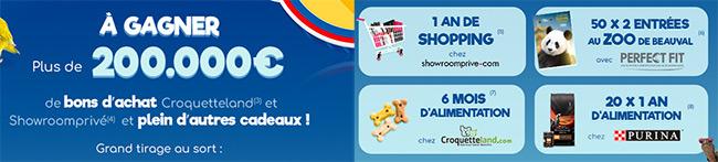 Tentez de gagner des cadeaux au jeu Prime Animaux de Carrefour