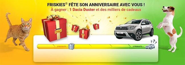 Tentez de gagner un Dacia Duster et des cadeaux chien ou chat