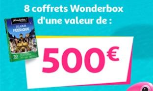 Jeu Destination vacances Auchan : Wonderbox à gagner