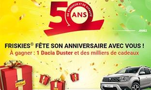 Jeu 50 ans Friskies : Dacia et lots à gagner