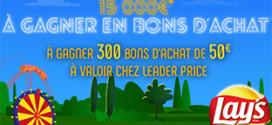 www.LeaderPrice.fr Jeu Lays 2019