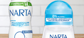 Tests gratuits de déodorants Narta sur Doctissimo