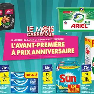 Avant-première Mois Carrefour : Jusqu'à 80% de remise fidélité