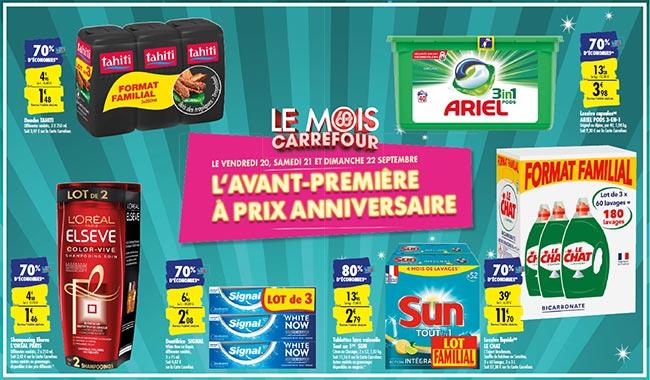 Les remises fidélité de l'avant-première Le Mois Carrefour