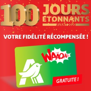 Bon plan fidélité Auchan : 10€ offerts par tranche de 50€ d'achat