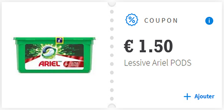 Bon de réduction Ariel Pods 3en1 sur Envie de Plus
