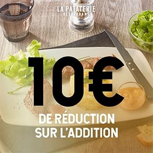 Bon de réduction La Pataterie de 10€