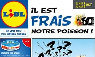 Catalogue Lidl «Il est frais notre poisson – Astérix» du 2 au 8 oct 2019