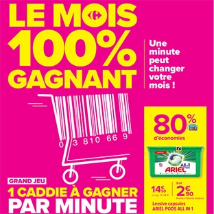 Catalogue Le Mois 100% gagnant de Carrefour : 80% d'économies