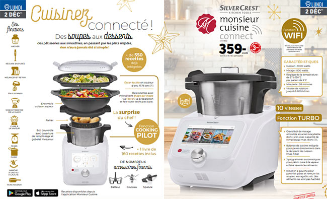 Le robot cuiseur Monsieur Cuisine Connect revient chez Lidl