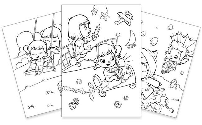 Imprimez gratuitement le livre de coloriage personnalisé pour frères et sœurs