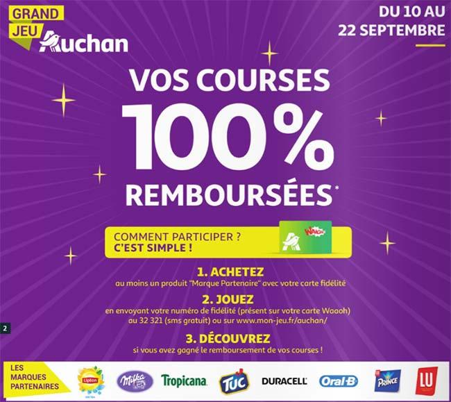 Tentez de remporter le remboursement intégral de vos courses Auchan