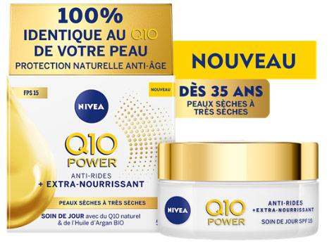 Tentez de tester gratuitement l'un des 50 crèmes Power Q10 de Nivea