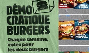 Vote Démocratique Burger King : Burgers de la semaine à 2€