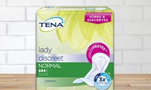 Demandez votre échantillon gratuit TENA Lady Discreet