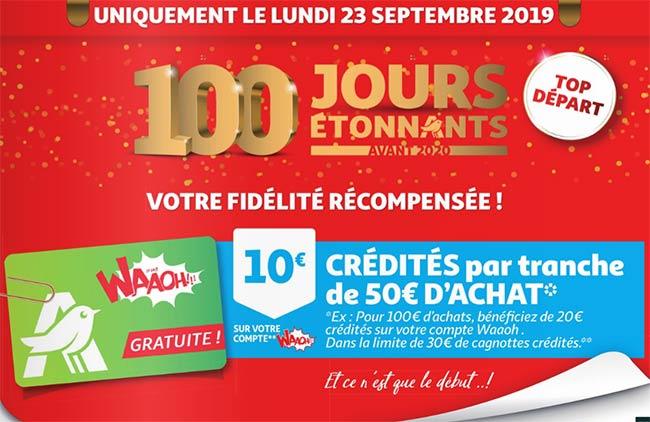 Jusqu'à 30€ crédités sur votre compte fidélité Auchan