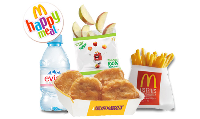 Contenu du menu Happy Meal de Mc Donald's
