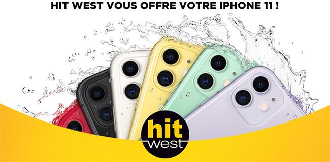 Tentez de gagner un iPhone 11 Apple avec Hit West