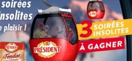 Jeu Président (3 séjours et 30 lots) sur www.soirees-insolites.fr